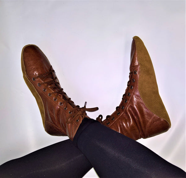 SAMPLE SALE - Chestnut Brown Tightrope Boots UK 7 /US 9