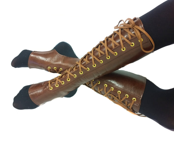 Brown Aerial boots w/ FRONT Lacing