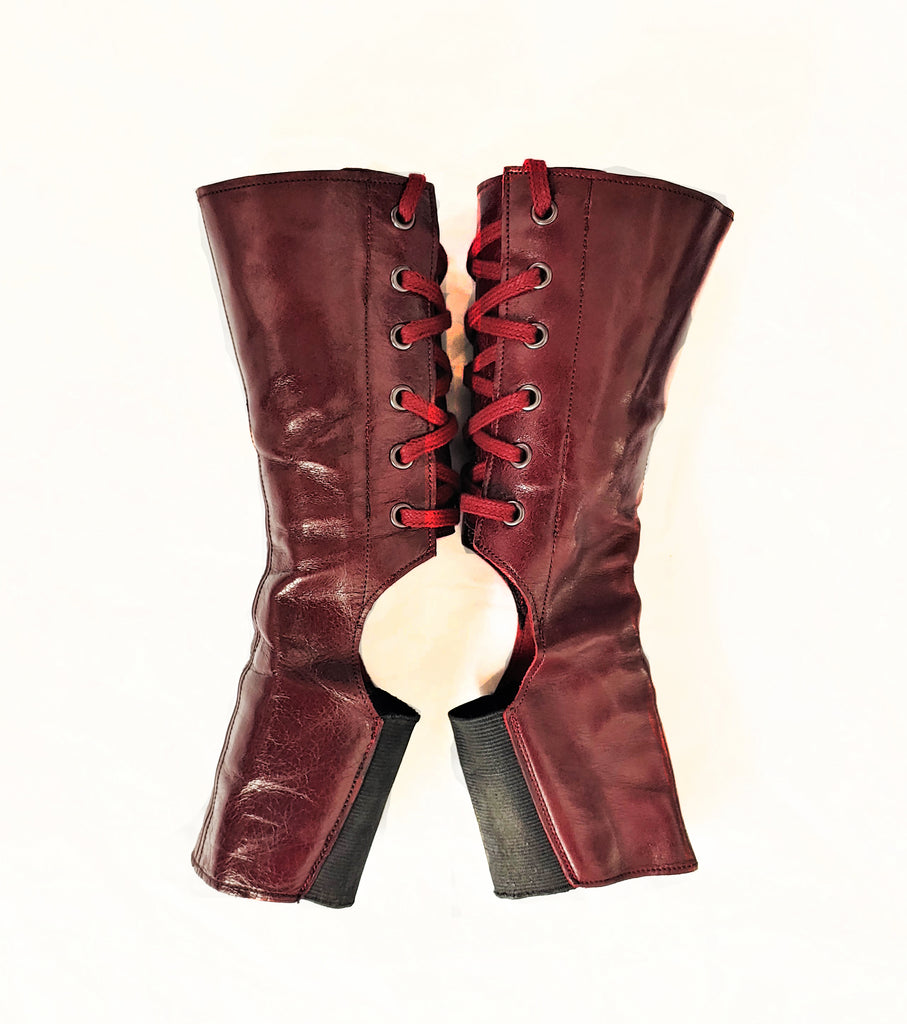 SAMPLE SALE - Short BURGUNDY Aerial Boots