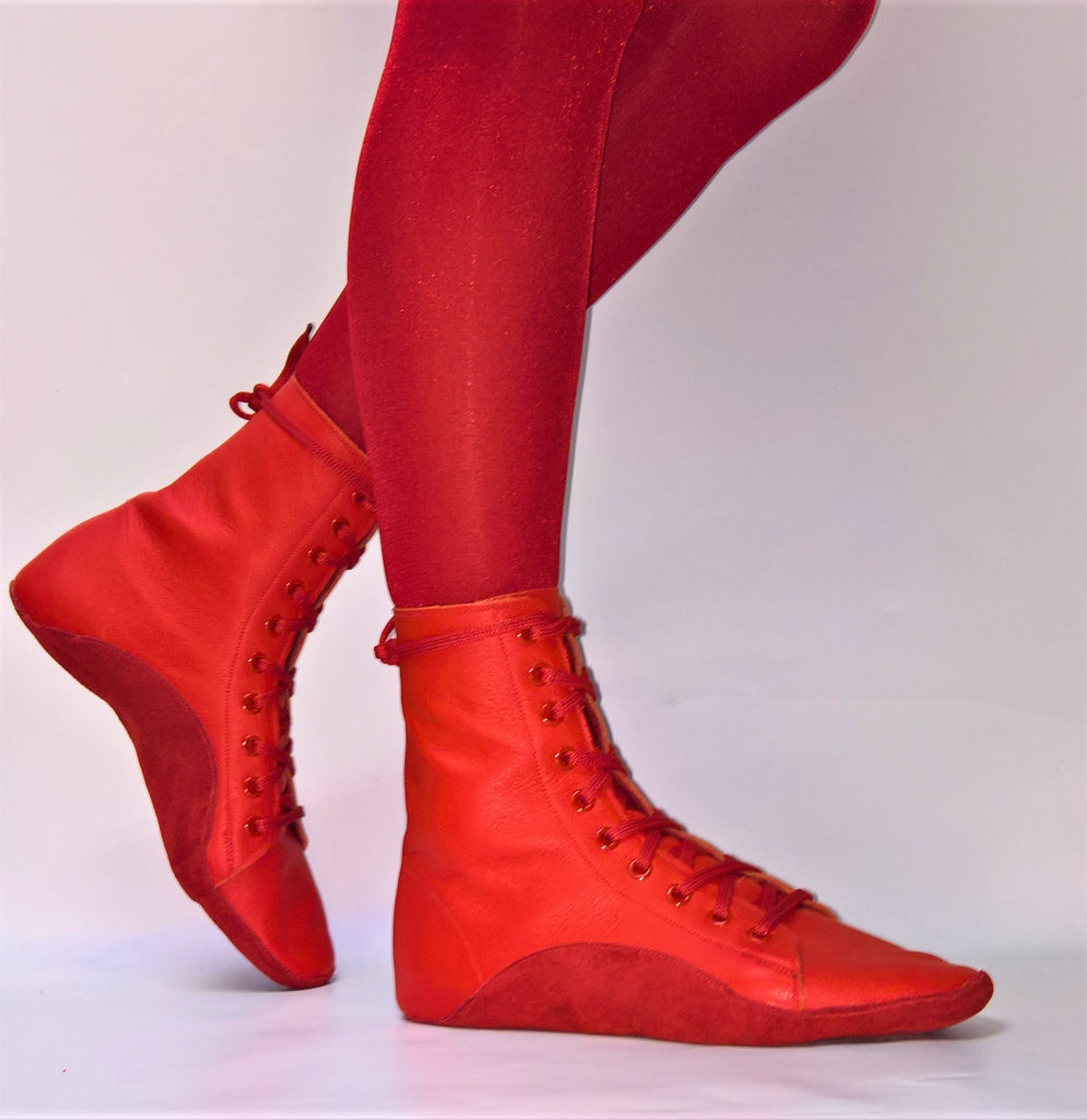 Red Tightrope Boots - Custom Made
