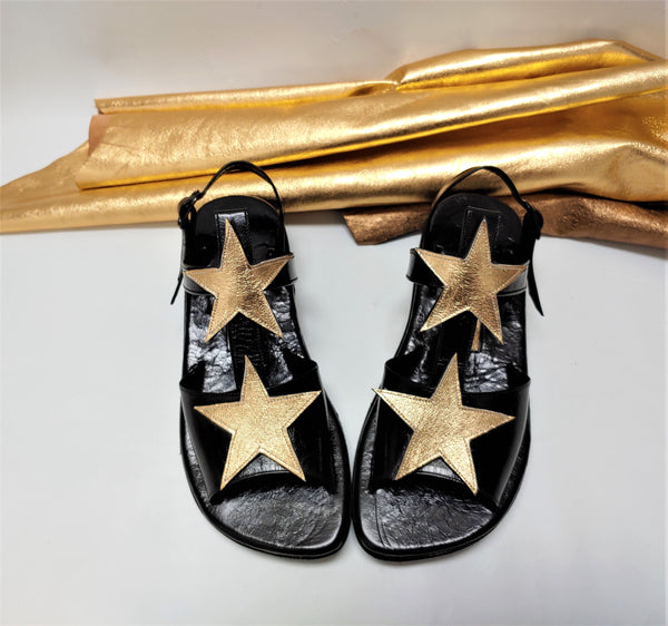 Gold T-Bar STARDUST Sandals