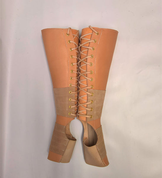 NUDE leather Aerial boots w/ Suede Grip + ZIP