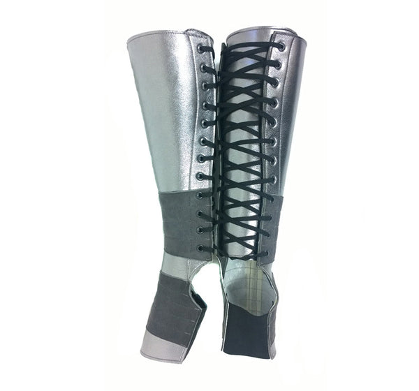 PEWTER METALLIC Aerial boots
