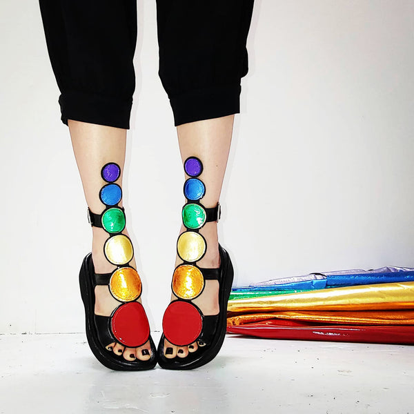 Rainbow BARBARELLA Disc Sandals