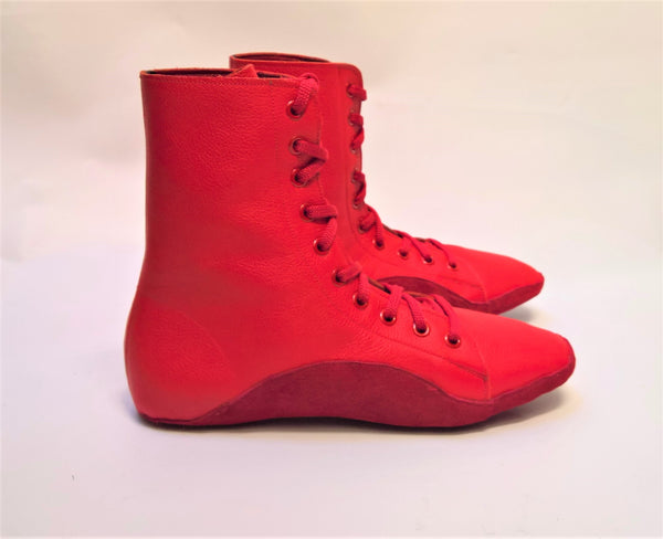 CUSTOM MADE Red Tightrope Boots