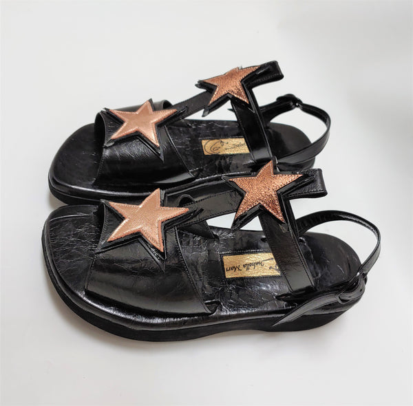 Rose Gold T-Bar STARDUST Sandals