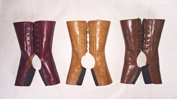 Short TAN/ Light Brown Aerial boots