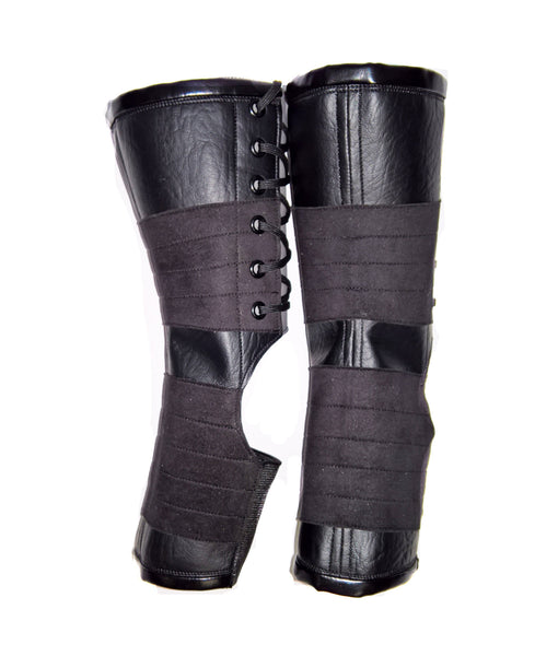 Short VEGAN Black Aerial Boots w/ grip panels
