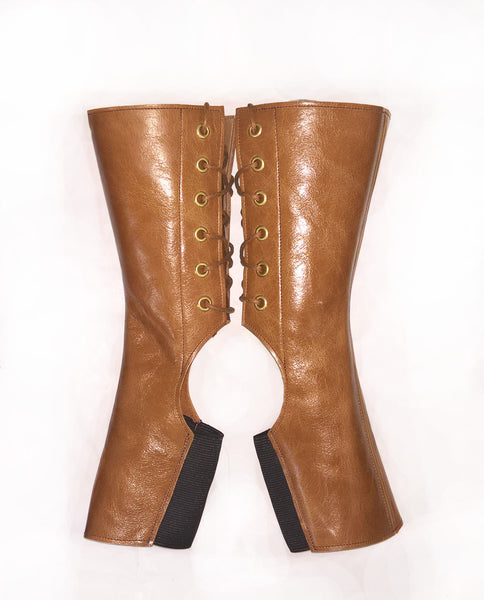 SAMPLE SALE - Short TAN Aerial Boots