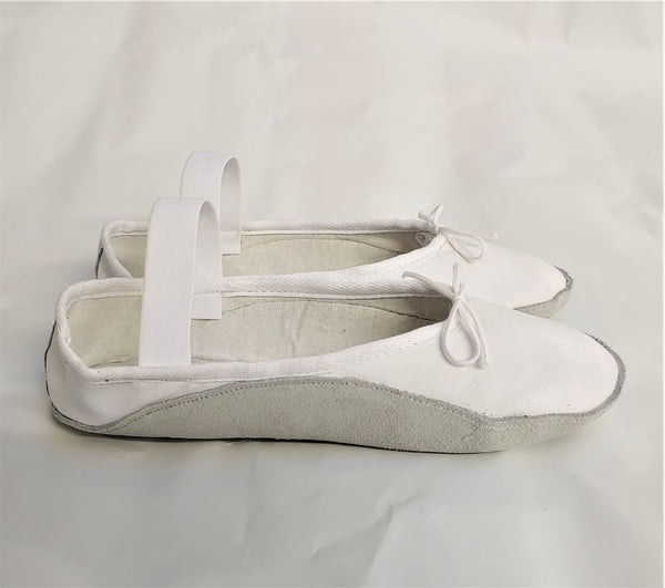 White Tightrope Shoes Ballet Style