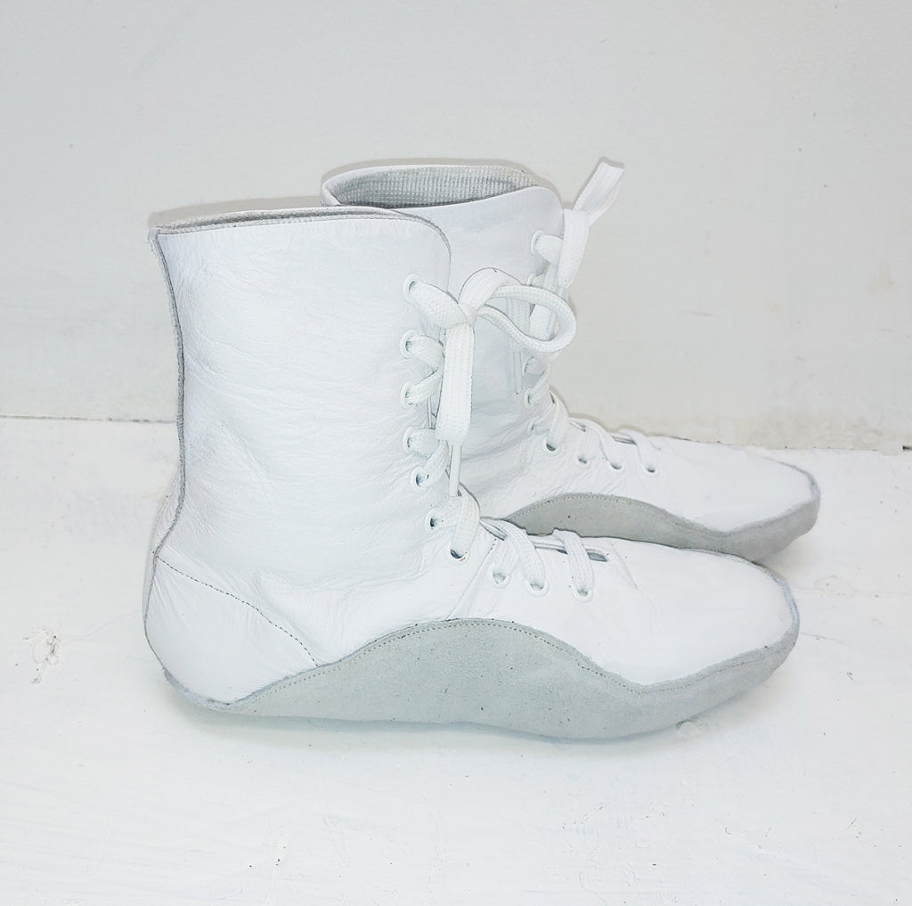 WHITE Tightrope Shoes Jazz Boot Style w/ GREY sole