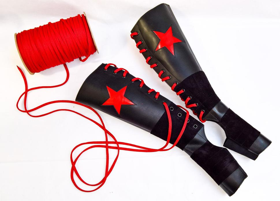 Aerial Boots - Red Silver Star