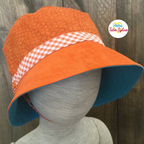 Chapeau  Safari Orange/Turquoise