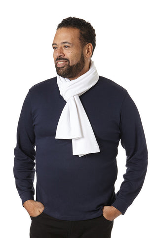 Men's Scarf in White