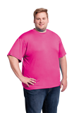 Men's Neon Pink Performance T-Shirt Sizes XL to 5XL