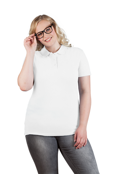 Women's White Superior Polo Shirt