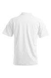 Men's Polo with Shirt Pocket in White