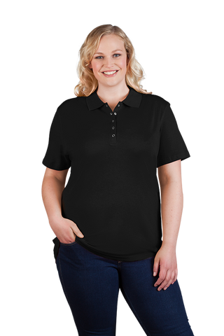 Women's Casual Polo Shirt in Black