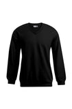 Men's V-Neck Sweatshirt in Black