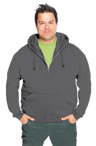 Men's Zip Up Hoodie in Grey