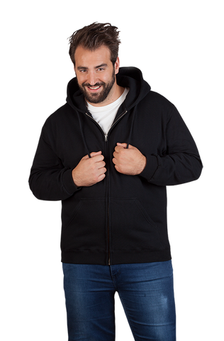 Men's Zip Up Hoodie in Black