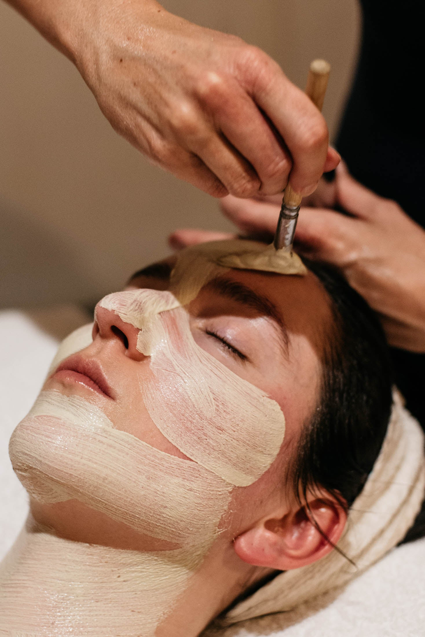 Woman with mineral mask