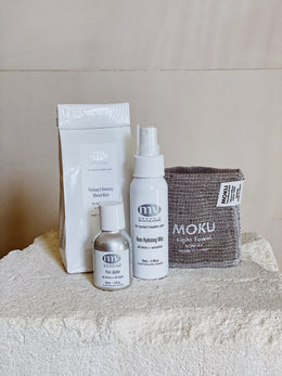 MV Mineral Mask, Rose Hydrating Mist, Pure Jojoba & MOKU Washer