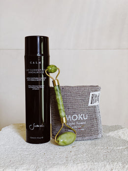 Sodashi Clay Cleanser, Jade Roller & MOKU Face Washer