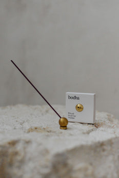 Bodha Ritual Incense Holder - Brass