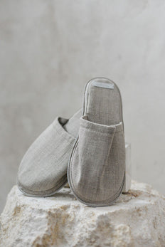 Fog Linen Slippers Natural