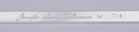Engraving on William & Mary Bracelet