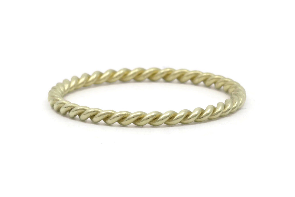 Rope Twist Ring 18K