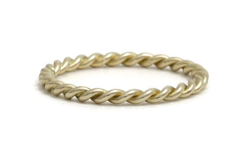Gold Rope Twist Ring, medium weight