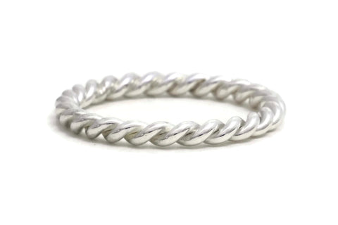 Silver Rope Twist Ring, heavy weight