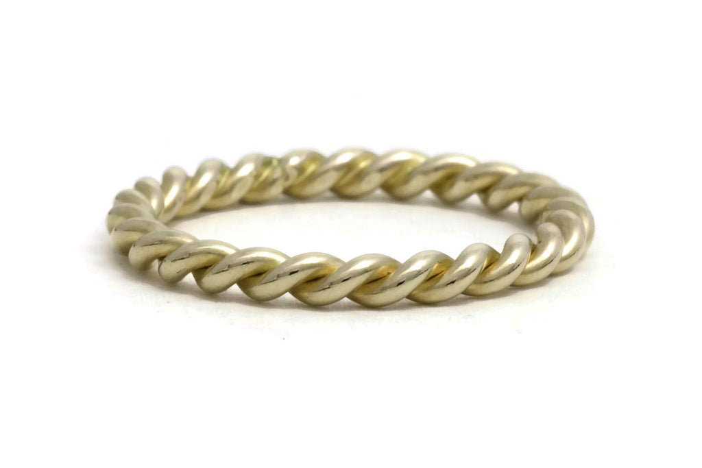 Gold Rope Twist Ring, heavy weight