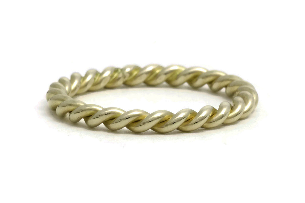 Heavy Rope Twist Ring - 18K