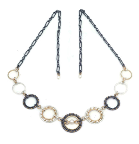 Fra Angelico Link Necklace, Mixed w/ white pearl