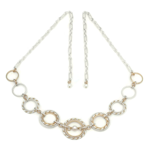 Fra Angelico Link Necklace w/ white pearl