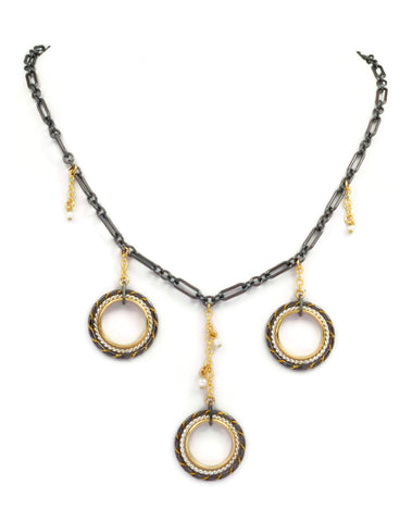 Fra Angelico Triple Drop Necklace