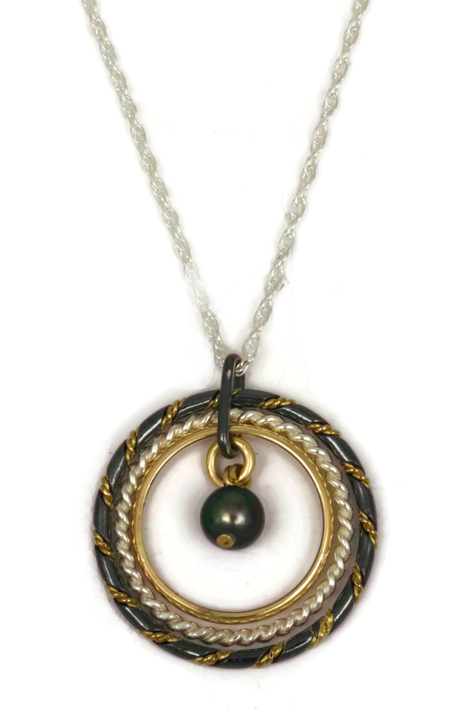 Fra Angelico Necklace, mixed with black pearl
