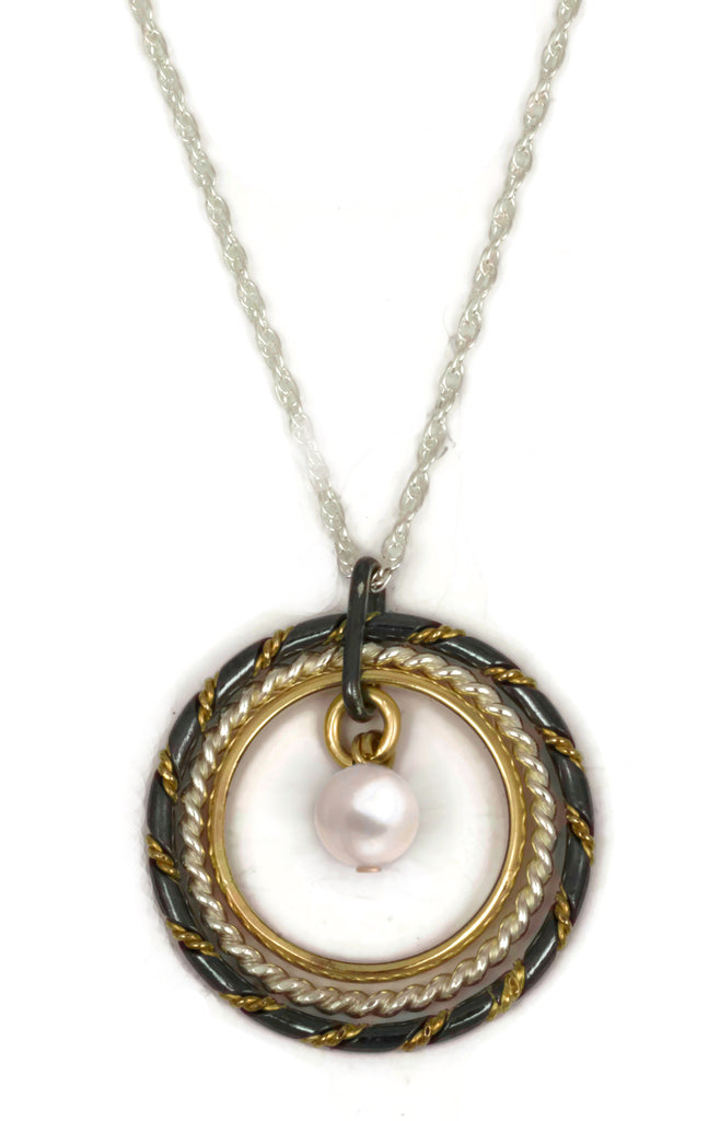 Fra Angelico Necklace, mixed with white pearl
