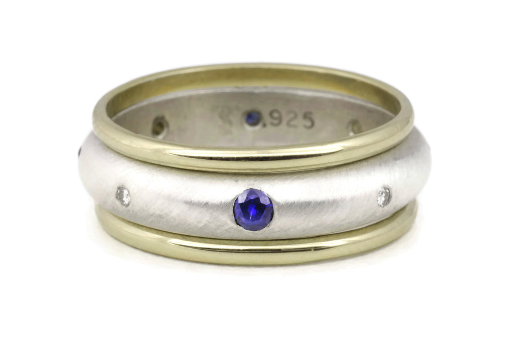 Compass Ring (Sapphire) Band Set