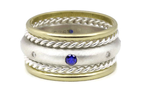 Compass Ring (Sapphire) Classic TS Stack