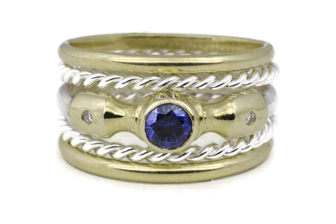 Lighthouse Ring (Sapphire) Classic TS Stack