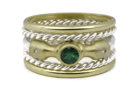 Lighthouse Ring (Emerald) Classic TS Stack