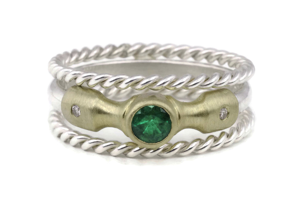Lighthouse Ring (Emerald) Rope Set