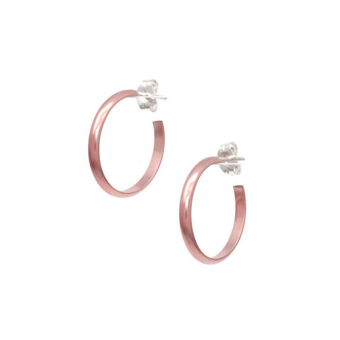 Plain Rose Gold Hoop Earrings E2R