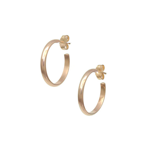 Plain Gold Hoop Earrings E2