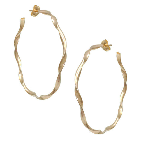 Greco Roman Hoop Earrings E42