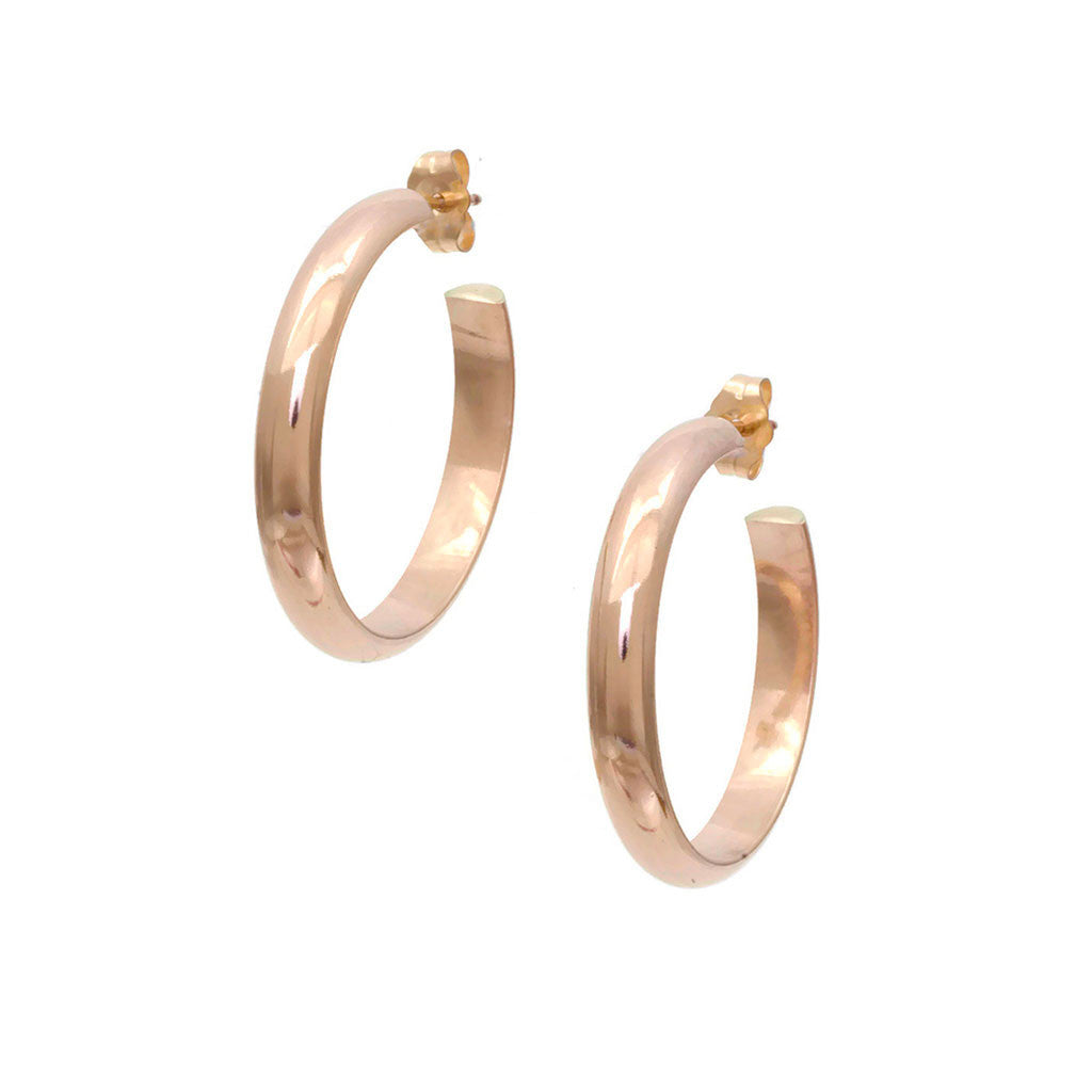 Plain Gold Hoop Earrings, heavy weight EH2